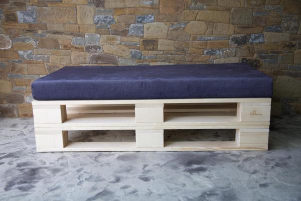 paletový nábytok - dvojsedačka 1200 x 600 mm
