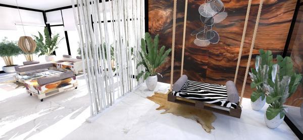 paletový nábytok - hojdačka